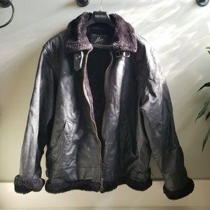 cbb58e1699 Max USA Genuine Leather Faux Fur Coat 2X